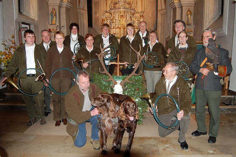 Gruppenfoto Jagdhornbläsercorps